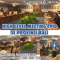 High Level Meeting TPID Se-Provinsi Bali Periode Mei 2017